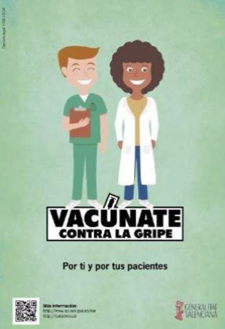 El Colegio de Médicos de Valencia insta a los colegiados a vacunarse contra la gripe como medida de contención del virus