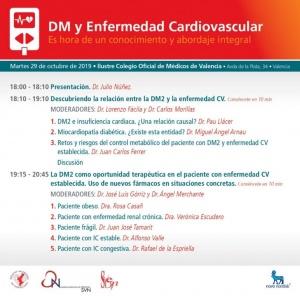 DM y Enfermedad Cardiovascular @ Ilustre Colegio Oficial de Médicos de Valencia   València   Comunidad Valenciana   España